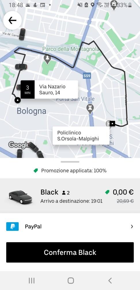 Da Uber e Cosepuri corse gratuite a Bologna per la campagna di vaccinazione COVID19